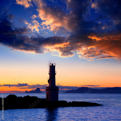 Sunset from La Savina lighthouse in Formentera