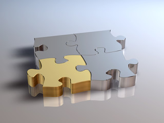 Puzzle Silber Gold