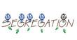 Segregation twig text representing intolerance