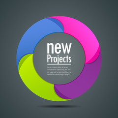 Colorful projects circle, vector