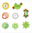 nature creative ecology symbols set