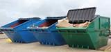 Fototapety Industrial waste skips