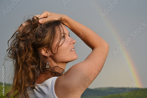 Enjoying the sun after the rain