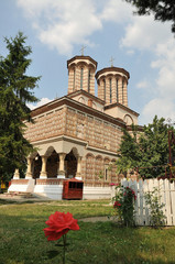 orthodox monastery in  Romania of romanian architecture