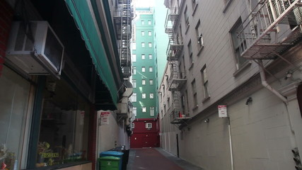 A typical back street in America