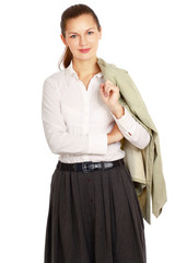 Portrait of a young business lady standing
