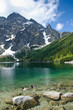 Morskie Oko mountain lake in Polish Tatra mountains