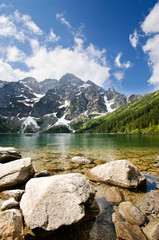 Morskie Oko lake in Polish part of Tatra mountains