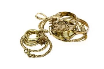 Old broken gold jewelry