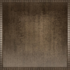 Grunge paper background with decorative border.