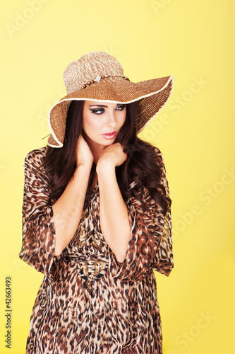 Elegant stylish fashion model