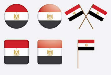set of badges with flag of Egypt vector illustration
