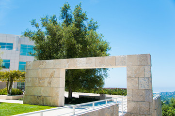 Building At JP Getty Museum Of Art