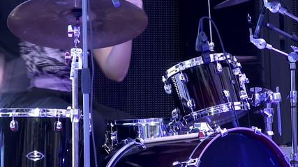 Drum kit show.