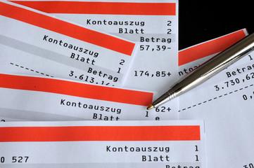 Kontoauszüge, Bank, Sparkasse, Girokonto