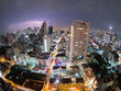 Thunderstorm Bangkok City View (fisheye) Thailand