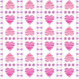 Hand drawn heart seamless pattern