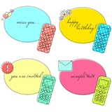 Old cellphone templates for greeting cards/invitations etc