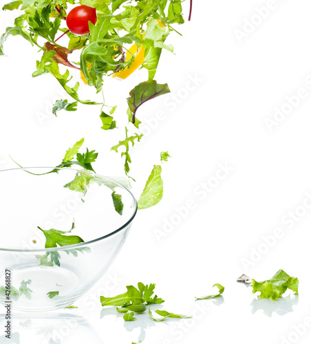 Flying salad