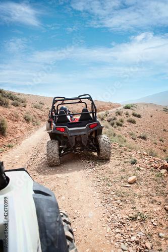Desert quad riding