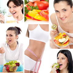 Dieting collage