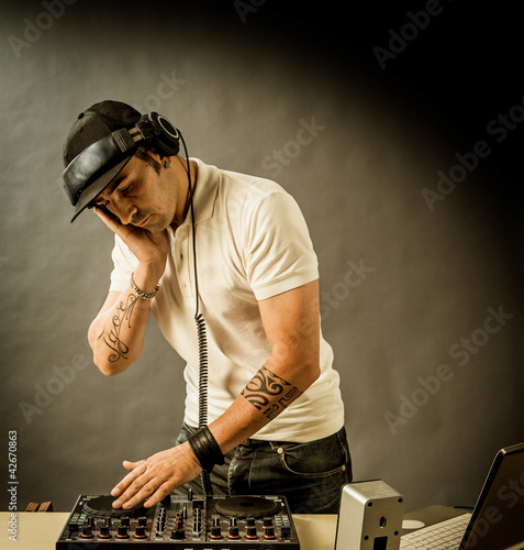 DJ at work
