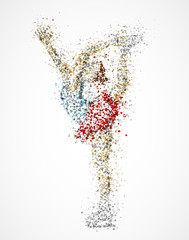 Abstract figure skater