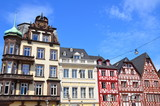 Trier, view of the main market square and timber-houses