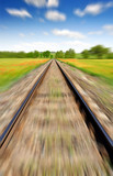 Motion blurred railway
