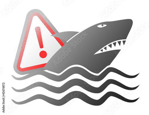 Danger shark symbol