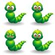 Verme Cartoon Espressioni-Cute Cartoon Baby Worm Emotions