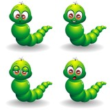 Verme Cartoon Espressioni-Cute Cartoon Baby Worm Emotions