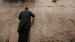 Wailing Wall praying man