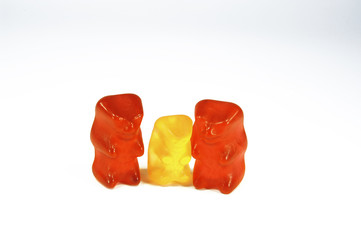 Vater,Mutter,Kind Gummibärchen