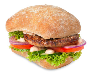 Sanwich with hamburger