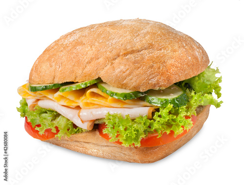 Sanwich with chiken and cheese
