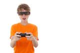 3d video gamer glasses poster