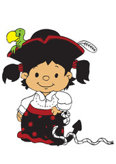 Little pirate girl color