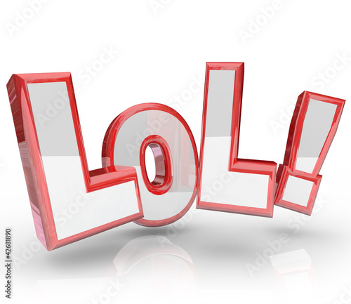 LOL Abbreviation Laugh Out Loud Funny Expression