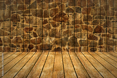 Wall and floor background.