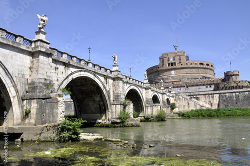 Rom Engelsburg Castel sant Angelo mit Tiberbrücke Poster