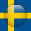 Sweden Flag Glossy Button