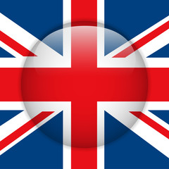 United Kingdom Flag Glossy Button