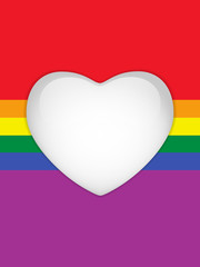 Heart Glass Buttons Gay Flag