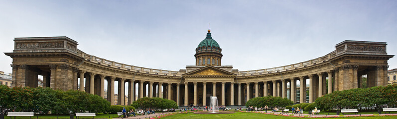 Panorama Kazan Cathedral on Nevsky Prospect