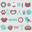A set of cute elements for design