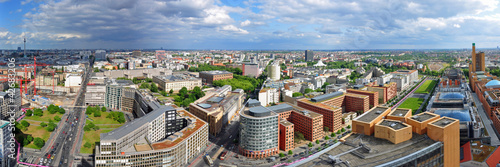 canvas print picture Panoramafoto Berlin, Blick vom Hochhaus