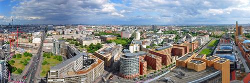 Aluminium Berlijn Panoramafoto Berlin, Blick vom Hochhaus