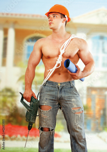Man worker with hard hat
