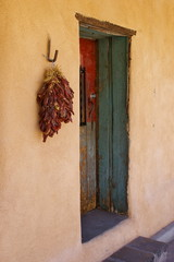 New Mexico Adobe Building - Doorway